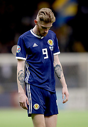 Scotland's Oliver McBurnie appears dejected during the UEFA Euro 2020 Qualifying, Group I match at the Astana Arena.