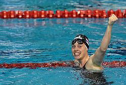 03-04-2015 NED: Swim Cup, Eindhoven<br /> Femke Heemskerk wint de 200 meter in een fantastische tijd.