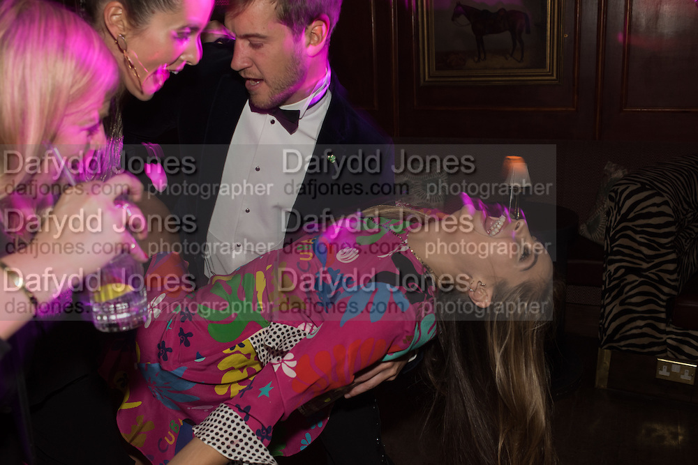 LILY FRIEDA, Fraser Carruthers  and Harry Scofield birthday. Archie's club, 92b Old Brompton Rd. London. 11 February 2017