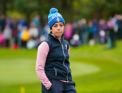Auchterarder, Scotland, UK. 14 September 2019. Saturday afternoon Fourballs matches  at 2019 Solheim Cup on Centenary Course at Gleneagles. Pictured; Georgia Hall of Team Europe. Iain Masterton/Alamy Live News
