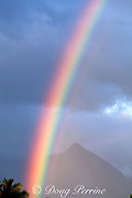 rainbow over Kahului, Maui (as seen from the Maui airport), Hawaii, United States