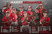 Marist High School Baseball Team Schedule Poster. Chicago, IL