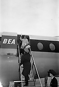 25/08/1963<br /> 08/25/1963<br /> 25 August 1963<br /> Royal Visit by Prince Rainier and Princess Grace of Monaco. The Royal family arrive at Dublin Airport. Princess Grace and Prince Albert disembarking from the aircraft at Dublin Airport.