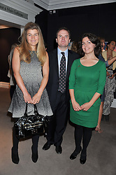 Left to right, AMBER NUTTALL, LORD DALMENY and CLARA COURTAULD at a lunch to announce the partnership between Creme de la Mer and BLUE Marine Foundation held at Sotheby's 34-35 New Bond Street, London on 18th May 2012.