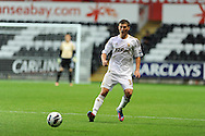 Swansea city's Ben Davies. Pre-season friendly match, Swansea city v Blackpool at the Liberty Stadium in Swansea, South Wales on Tuesday 7th August 2012. pic by Andrew Orchard, Andrew Orchard sports photography,