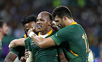 Rugby Union - 2019 Rugby World Cup - Pool B: South Africa vs. italy <br /> <br /> Mbongeni Mbonambi of South Africa celebrates scoring a try at Shizouka Stadium Ecopa.<br /> <br /> COLORSPORT/LYNNE CAMERON