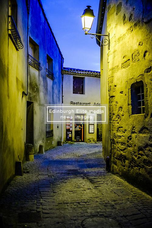 One of many restaurants in the medieval Cité de Carcassonne in France<br /> <br /> (c) Andrew Wilson | Edinburgh Elite media