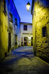 One of many restaurants in the medieval Cité de Carcassonne in France<br /> <br /> (c) Andrew Wilson   Edinburgh Elite media