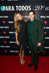 SANTA ANA, CA - OCT 10: Venezuelan model and actress Marjorie de Sousa poses with former RBD Christian Chavez during  ParaTodos Magazine 20th Anniversary Gala at the Bower Museum on 10th of October, 2015 in Santa Ana, California. Byline, credit, TV usage, web usage or linkback must read SILVEXPHOTO.COM. Failure to byline correctly will incur double the agreed fee. Tel: +1 714 504 6870.