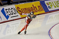 Calgary - December 5, 2009 - Essent ISU World Cup Speedskating at the Olympic Oval in Calgary.  Lucas Makowski of Canada races in the A Division of the men's 5000m event.  Makowski finished 17th in 6:24.72...©2009, Sean Phillips.http://www.Sean-Phillips.com
