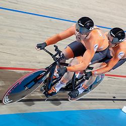 16-03-2019: Wielrennen: WK Paracycling baan; Apeldoorn<br />Brons voor Teunis Bangma en piloot PAtrick Bos op de kilometer