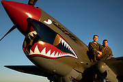 Living historian and P-40E Warhawk at Warbirds Over the West.