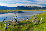 Pond and Long Range Mountains<br /> St. Paul's Inlet<br /> Newfoundland & Labrador<br /> Canada