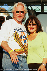 Arlen Ness with his wife Bev right after winning the Top Banana Biker Build Off. Puerto Rico, 2004. Photograph ©2004 Michael Lichter