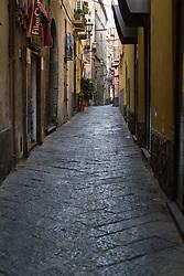 Sorrento, Italy, September 17 2017. Quiet streets at daybreak in Sorrento, Italy. © Paul Davey