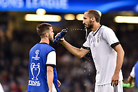 Giorgio Chiellini of Juventus warms up during the UEFA Champions League Final match between Real Madrid and Juventus at the National Stadium of Wales, Cardiff, Wales on 3 June 2017. Photo by Giuseppe Maffia.<br /> <br /> Giuseppe Maffia/UK Sports Pics Ltd/Alterphotos