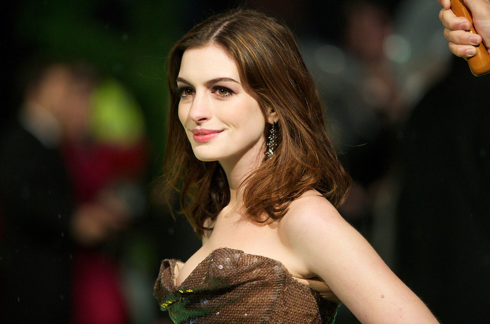 Actress Anne Hathaway attends the Royal World Premiere of 'Alice in Wonderland' at the Odeon Leicester Square in London.