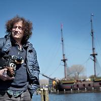 Nederland, Amsterdam , 23 april 2015.<br /> de Franse filmmaker Jerome Blumberg, die een film over de Friese skutsjes gemaakt heeft.<br /> Onkosten: <br /> Reiskosten: 35 x € 0,19=€   6,65<br /> Parkeerautomaat:          =€   4,25<br /> Totaal:                          =€  10,90<br /> Foto:Jean-Pierre Jans