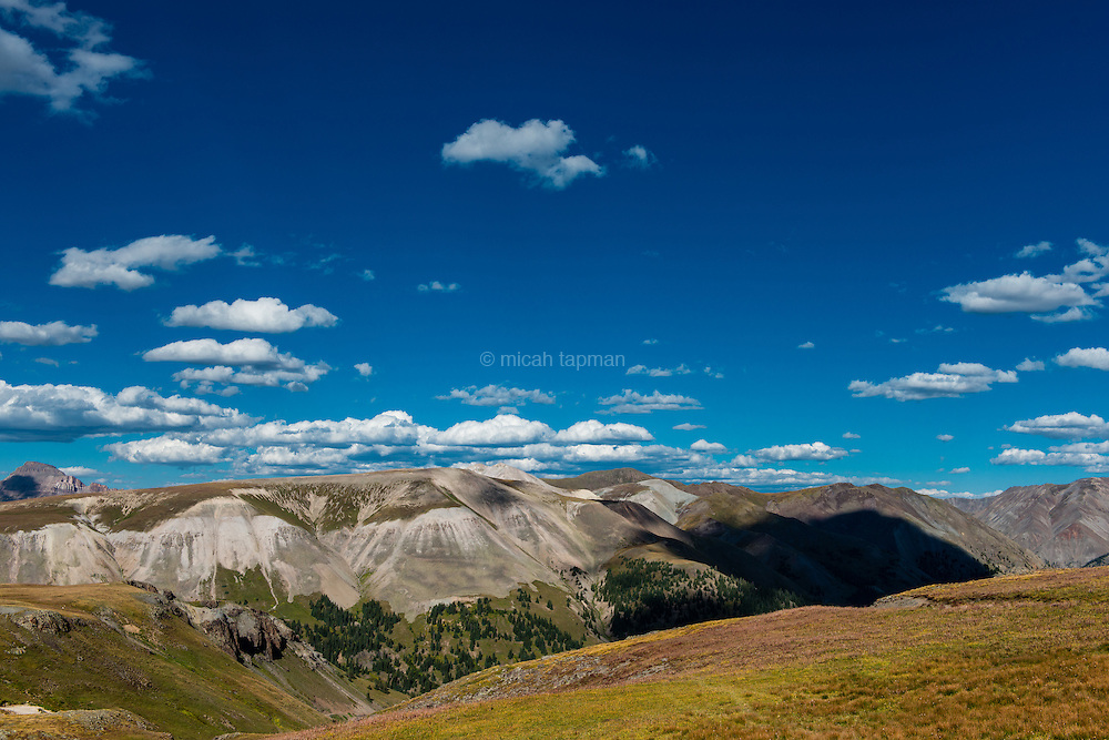 View from Engineer Pass on the Alpine Loop in southwestern Colorado.