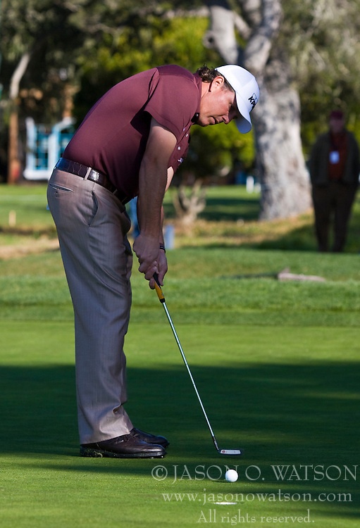 February 14, 2010; Pebble Beach, CA, USA;  Phil Mickelson puts on the second hole during the final round of the AT&T Pebble Beach Pro-Am at Pebble Beach Golf Links.