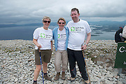 22/06/2014   <br /> Brid Maher, Bernie McArdle TullamoreTom Coleman Ballybrittas who climbed the  765 metre Croagh Patrick in Mayo as part of the 30th Anniversary Celebrations of  Self Help Africa and to support the work of Self Help Africa in 10 countries in Africa. Photo: Andrew Downes