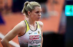 Lara Hoffmann of Germany competes in the Women's 400 metres heats on day one of the 2017 European Athletics Indoor Championships at the Kombank Arena on March 3, 2017 in Belgrade, Serbia. Photo by Vid Ponikvar / Sportida
