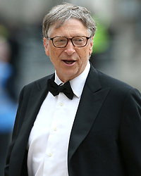 Bill Gates arrives at the Commonwealth Heads of Government banquet at the at Guildhall in London during the Commonwealth Heads of Government Meeting biennial summit.