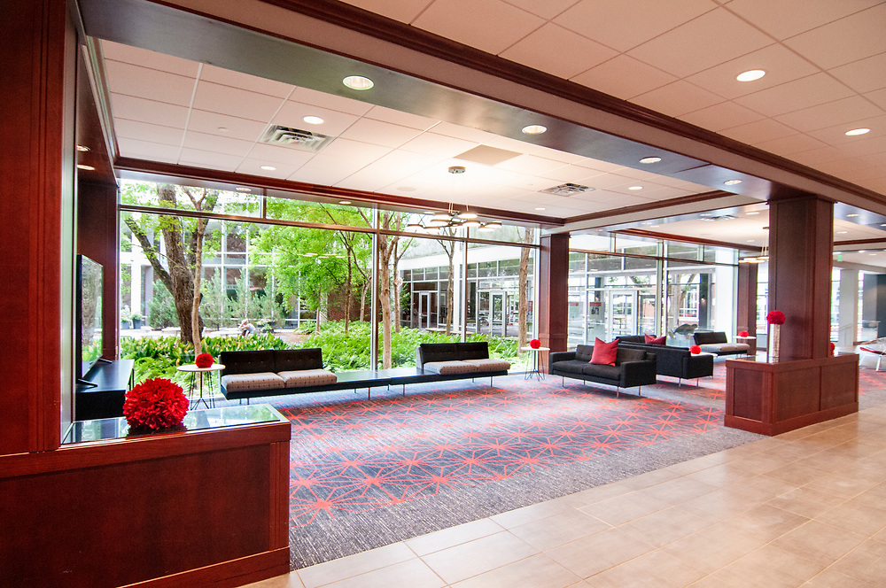 Lounge seating at the University of Georgia Center for Continuing Education & Hotel in Athens, Georgia on Thursday, July 15, 2021. Copyright 2021 Jason Barnette