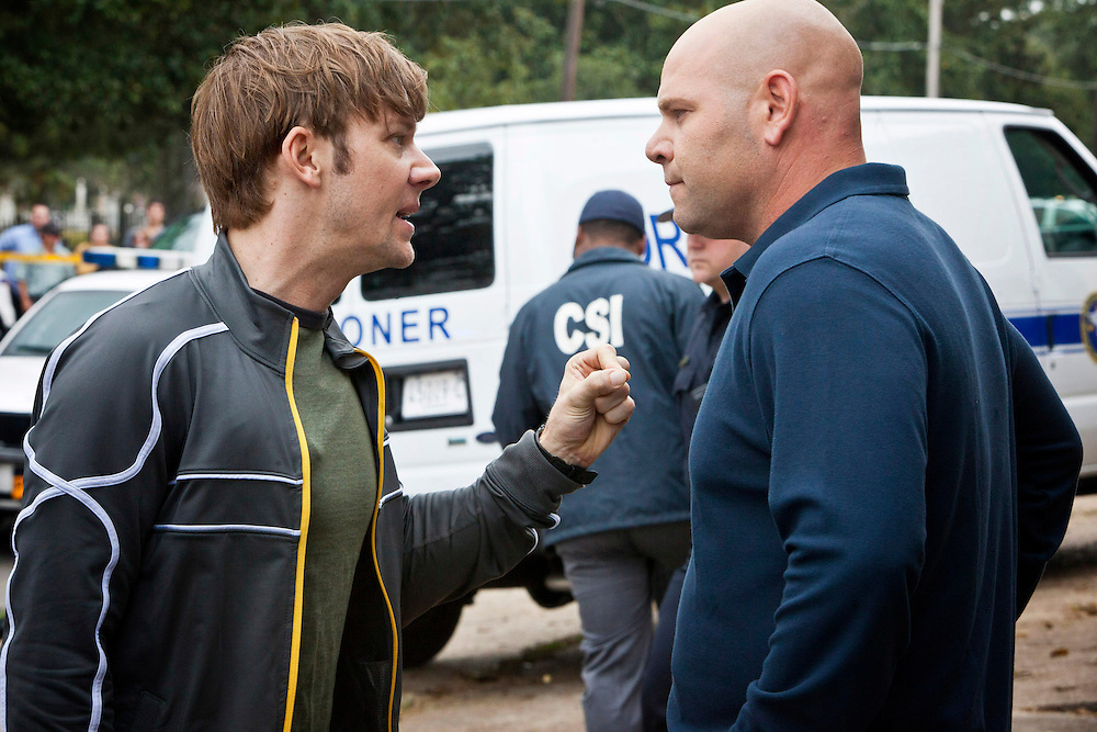 In this episode of Breakout Kings, Lloyd (Jimmi Simpson) tells Ray that Cruz is at the end of his rope. His pain medication is wearing off, and now he's killed an innocent man.  Photo: Skip Bolen / A&E Television Networks