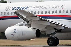 © under license to London News Pictures. 09/05/12. A Russian Sukhoi Superjet 100 on a demonstration flight with at least 44 people aboard went missing in a mountainous area south of the Indonesian capital Jakarta today. FILE PHOTO The Sukhoi Superjet 100.Photo credit should read IAN SCHOFIELD/LNP