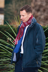 Downing Street, London, January 27th 2015. Ministers attend the weekly cabinet meeting at Downing Street. PICTURED: Health Secretary Jeremy Hunt.
