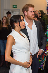 The Duke and Duchess of Sussex during a visit to Courtenay Creative, in Wellington, on day two of the royal couple's tour of New Zealand.