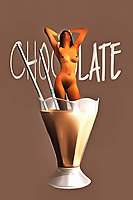 A nude woman standing in a chocolate milkshake isn't something you see every day, to be sure. This unique piece of fine acrylics art can create a variety of different impressions, depending on your perspective. The woman has her hands above her head. Her closed eyes are tilted towards the sky, and she has a look on her face that one could describe as quiet ecstasy. This is not an overtly sexual piece of art, but there is something provocative about it all the same. This unique piece of pop art can be enjoyed by almost anyone who appreciates the truly unique. .<br /> <br /> BUY THIS PRINT AT<br /> <br /> FINE ART AMERICA<br /> ENGLISH<br /> https://janke.pixels.com/featured/chocolate-jan-keteleer.html<br /> <br /> <br /> WADM / OH MY PRINTS<br /> DUTCH / FRENCH / GERMAN<br /> https://www.werkaandemuur.nl/nl/shopwerk/Pop-Art---Chocolate/438192/134