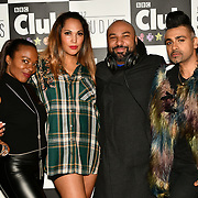 Tina T, HunnyB, guest and Jay Kamiraz - Mr Fabulous attend BBC Club at W12 Studios Lunch party on 14 March 2019, London, UK.