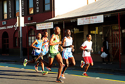 Runners make their way through Woodstock during the 2016 Sanlam Cape Town marathon held in Cape Town, South Africa on the 18th September  2016<br /> <br /> Photo by: Ron Gaunt / RealTime Images