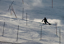 "MAZE Tina (SLO) competes during 2nd Run of FIS Alpine Ski World Cup 7th Ladies' Slalom race named ""49th Golden Fox 2013"", on January 27, 2013 in Mariborsko Pohorje, Maribor, Slovenia. (Photo By Vid Ponikvar / Sportida.com)"