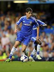 "Chelsea's Oscar  - Photo mandatory by-line: Joe Meredith/JMP - Tel: Mobile: 07966 386802 21/08/2013 - SPORT - FOOTBALL - Stamford Bridge - London - Chelsea V Aston Villa - Barclays Premier League - EDITORIAL USE ONLY. No use with unauthorised audio, video, data, fixture lists, club/league logos or ""live"" services. Online in-match use limited to 45 images, no video emulation. No use in betting, games or single club/league/player publications"