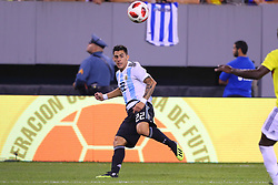 September 11, 2018 - East Rutherford, NJ, U.S. - EAST RUTHERFORD, NJ - SEPTEMBER 11:  Argentina forward Cristian Pavon (22) during the second half of the International Friendly Soccer game between Argentina and Colombia on September 11, 2018 at MetLife Stadium in East Rutherford, NJ.   (Photo by Rich Graessle/Icon Sportswire) (Credit Image: © Rich Graessle/Icon SMI via ZUMA Press)