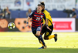 July 26, 2017 - Santa Clara, CA, USA - Santa Clara, CA - Wednesday July 26, 2017: Paul Arriola during the 2017 Gold Cup Final Championship match between the men's national teams of the United States (USA) and Jamaica (JAM) at Levi's Stadium. (Credit Image: © Bob Drebin/ISIPhotos via ZUMA Wire)