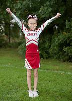 Laconia Chiefs Cheerleading squad portraits