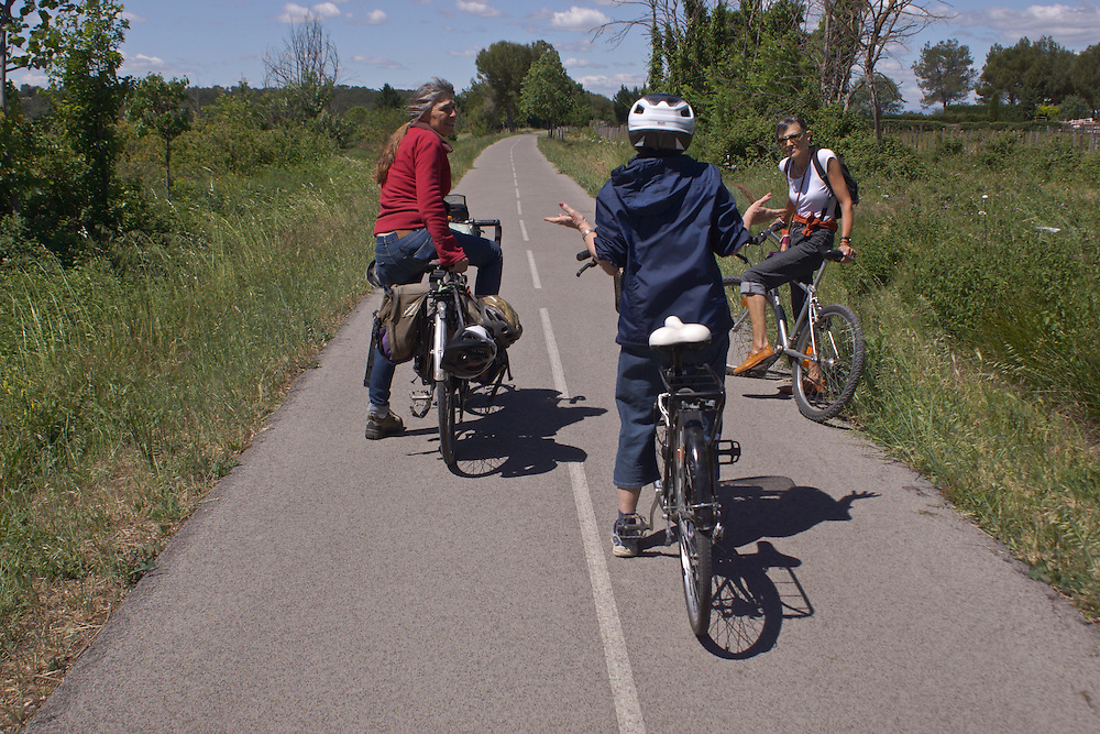 Bike Paths, south of France, Congenies
