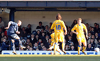 Photo: Ashley Pickering.<br />Southend United v Leicester City. Coca Cola Championship. 03/03/2007.<br />Freddy Eastwood of Southend (L) fires in the equaliser (1-1)