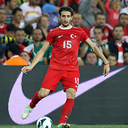 Turkey's Mehmet Topal during their FIFA World Cup 2014 qualifying soccer match Turkey betwen Romania at Sukru Saracoglu stadium in Istanbul october 12, 2012. Photo by TURKPIX