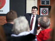 Sheffield United's celebrity from The Chase Mark Labbett during the League One match at Bramall Lane, Sheffield. Picture date: April 30th, 2017. Pic David Klein/Sportimage