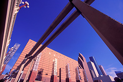 Stock photo of the Wortham Center in downtown Houston Texas