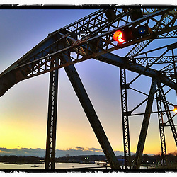 """The US 1 Memorial Bridge between Kittery, Maine and Portsmouth, New Hampshire. iPhone photo - suitable for print reproduction up to 8"""" x 12""""."""