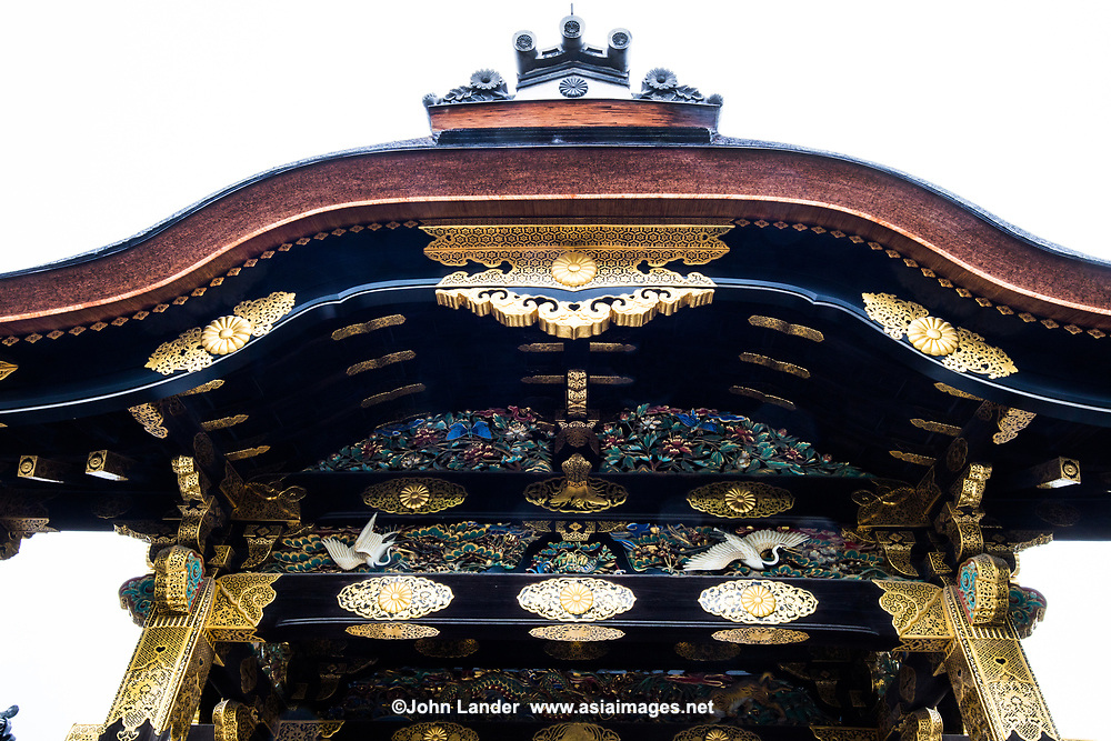 """Nijo Castle or Nijo-jo was built in 1603 as theresidence ofthe first Tokugawa shogun of the Edo Period. After the Tokugawa Shogunate fell in 1867, Nijo Castle was used as aniimperial palace before being given to the city of Kyoto when it opened to the public. The entire castle grounds and the Honmaru are surrounded by stone walls and moats.  Ninomaru Palaceserved as the residence of shoguns during visits to Kyoto. The palace survives in its original form, with separate buildings which are connected  by corridors with """"nightingale floors"""" that squeak when stepped upon as a security measure against intruders. Nijo Castle is surrounded by Ninomaru Garden, and altogether it is a UNESCO World Heritage Site."""