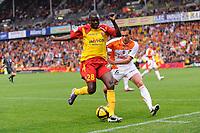 FOOTBALL - FRENCH CHAMPIONSHIP 2010/2011 - L1 - RC LENS v FC LORIENT - 30/04/2011 - PHOTO JULIEN CROSNIER / DPPI - KANGA AKALE (LEN)