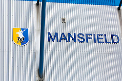 A general view outside of the One Call Stadium, home to Mansfield Town - Mandatory by-line: Ryan Crockett/JMP - 18/08/2018 - FOOTBALL - One Call Stadium - Mansfield, England - Mansfield Town v Colchester United - Sky Bet League Two