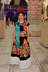 """Salma Hayek at the opening of """"Frida Kahlo: Making Her Self Up"""" Exhibition at the V&A Museum, London England. 13 June 2018."""